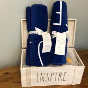 Rae Dunn Royal Blue Beach Towels